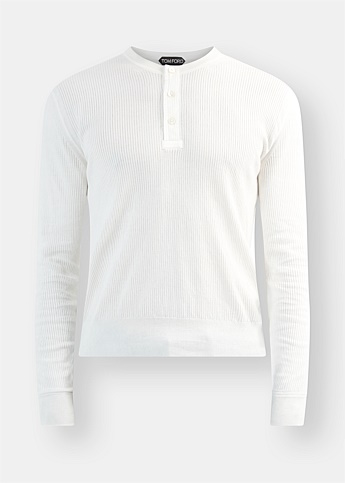 Henley Long Sleeve Ribbed Tee
