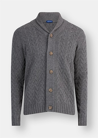 Australian Wool Shawl Collar Cardigan