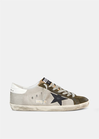 Superstar Leather and Mesh Low-Top Sneakers