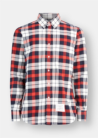 Check Flannel Button Down Shirt