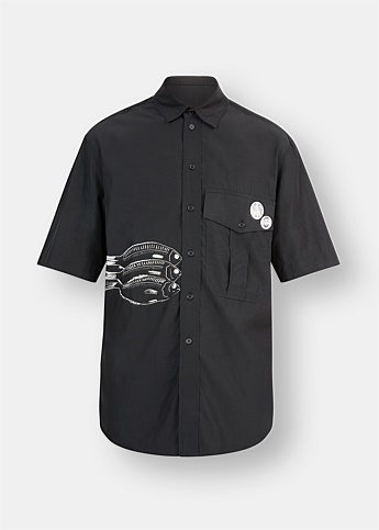 Fish Short Sleeve Military Shirt