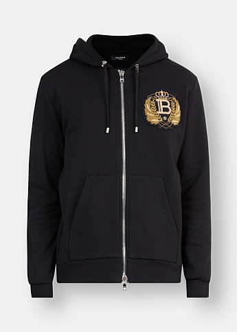 Embroidered Badge Hoodie