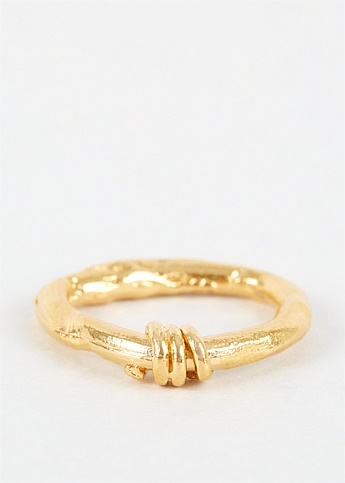 The Trembling Bough Gold-Plated Ring