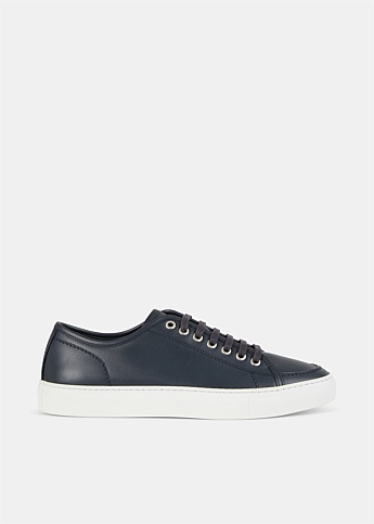 Lace Up Leather Low-Top Sneakers