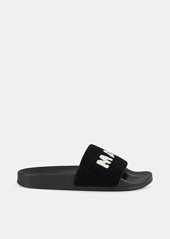 Terry Cloth Logo Rubber Slides
