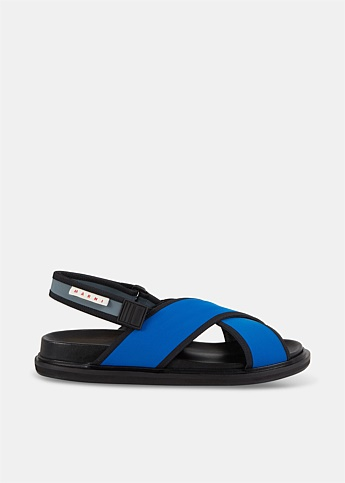Fussbett Crossover-strap Sandals With Logo Patch