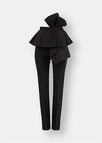 Ruffle and Bow Detail Trousers