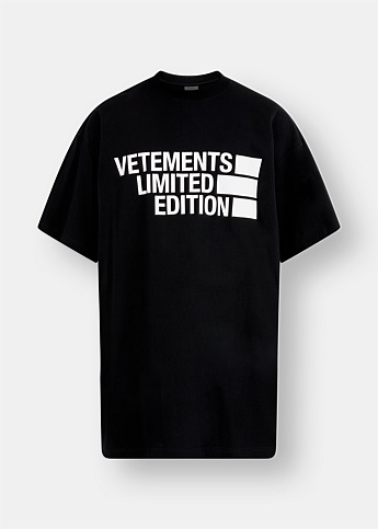 'Limited Edition' Black Logo T-shirt