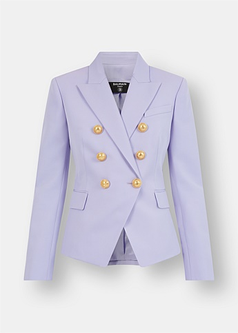 Double-Breasted Lilac Wool Blazer