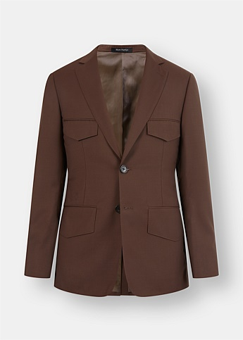 Welt Pocket Single-Breasted Blazer