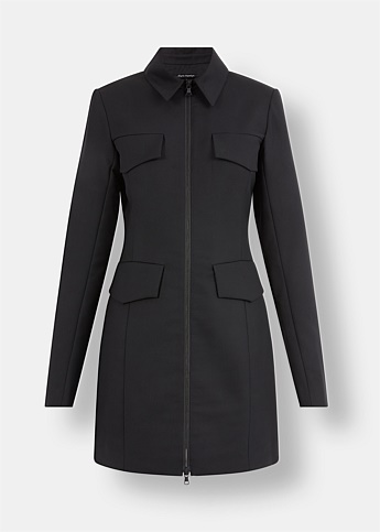 Welt Pocket Wool Blazer Dress