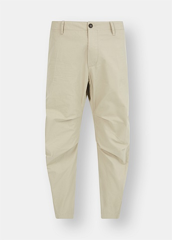 Cropped Drop-Crotch Trousers