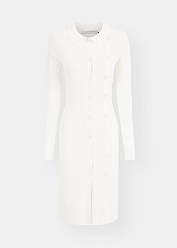 Double Button Knit Dress