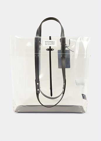 Clear Logo Fold-Over Tote Bag