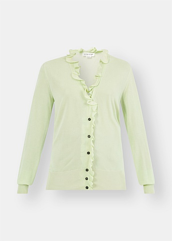Mint Frill V-Neck Cardigan