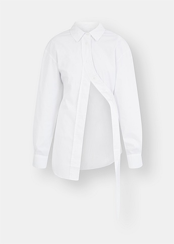 Slant Placket Cotton Shirt