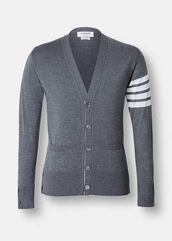 Engineered 4-Bar Stripe Merino Cardigan