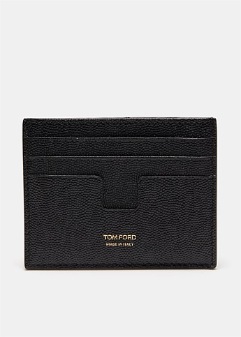 Grain Leather Zip Cardholder