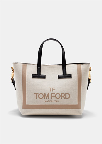 F TF MINI CANVAS TOTE L1079T.F BEIGE