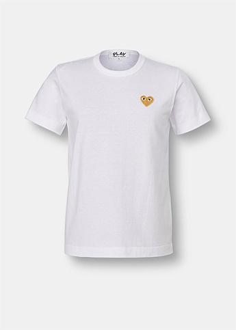 Classic Embroidered Gold Heart T-Shirt